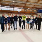 Aidas at  his seminar in Sweden with skaters and other coaches